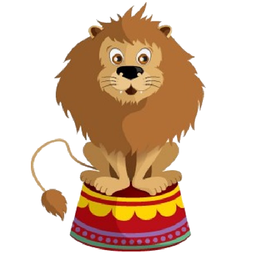 500x500 Cartoon Circus Animals Clipart