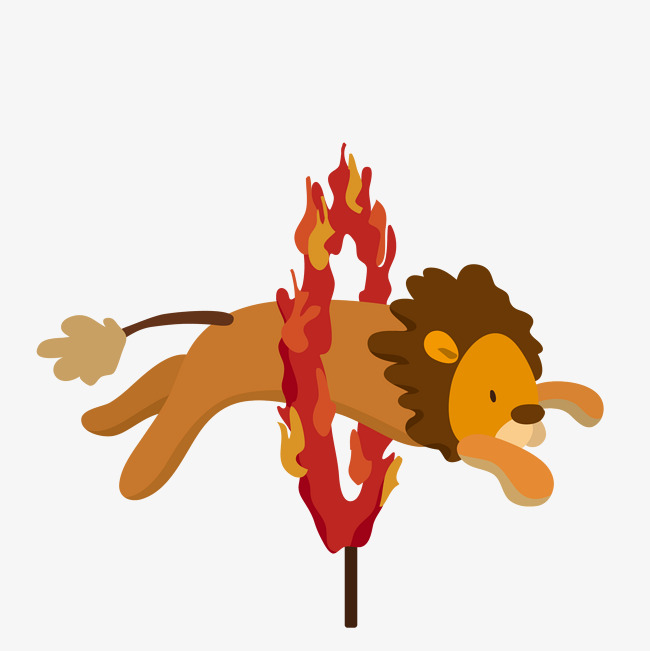 650x651 Cartoon Lion Vector Flashover Performance, Circus, Lion Show