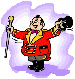 264x280 Circus Ring Leader Clipart