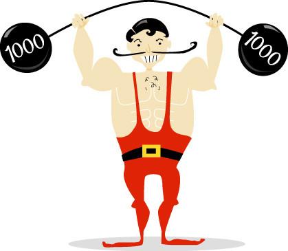 419x365 Circus Strongman Cliparts