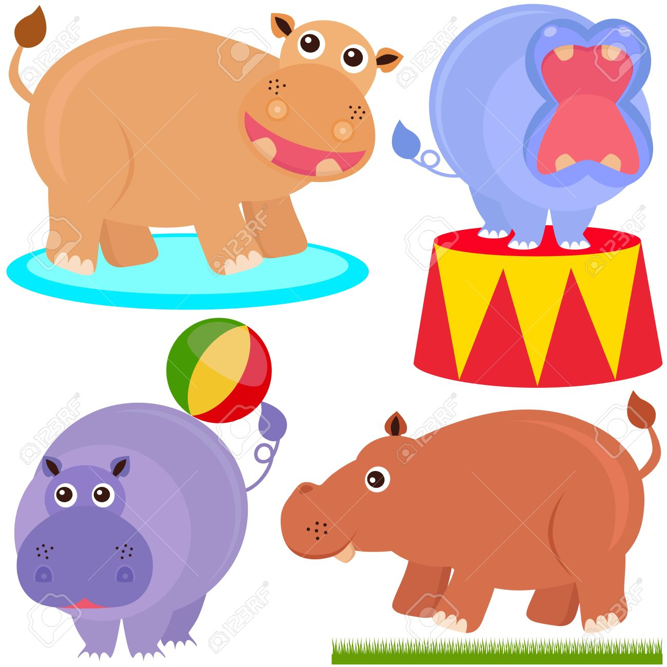 1300x1300 Hippo Clipart Circus Free Collection Download And Share Hippo