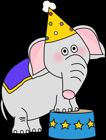 340x450 Carnival Elephant Clipart