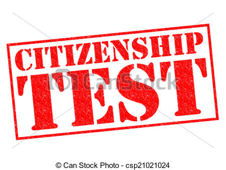 450x338 Citizenship Test Red Rubber Stamp Over A White Background. Clip
