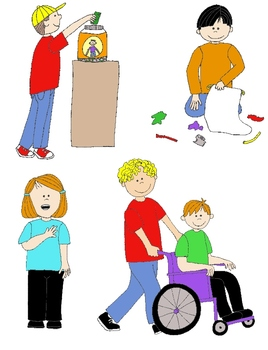 268x350 Kids In Action Citizenship And Service Clip Art 22 Pngs By
