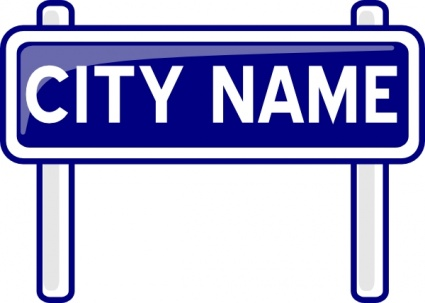 425x303 Free Download Of City Name Plate Road Sign Post Clip Art Vector