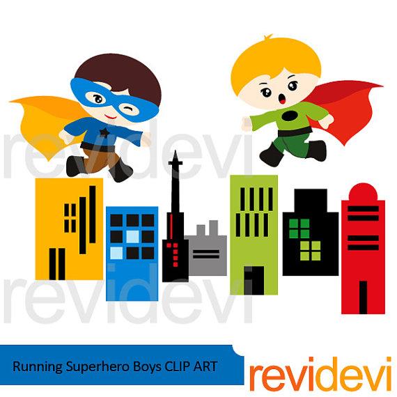 570x570 Superhero Clipart Bundle Sale Superhero Buildings Clip Art