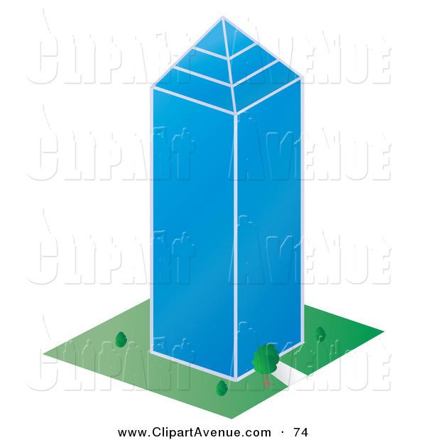 600x620 Tall Building Clipart