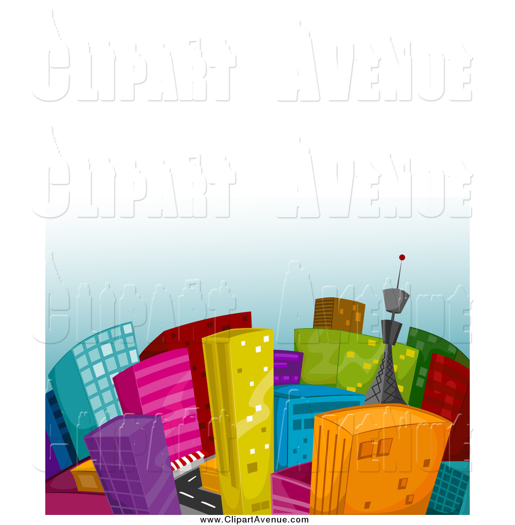 1024x1044 Avenue Clipart Of A City Of Colorful Buildings By Bnp Design