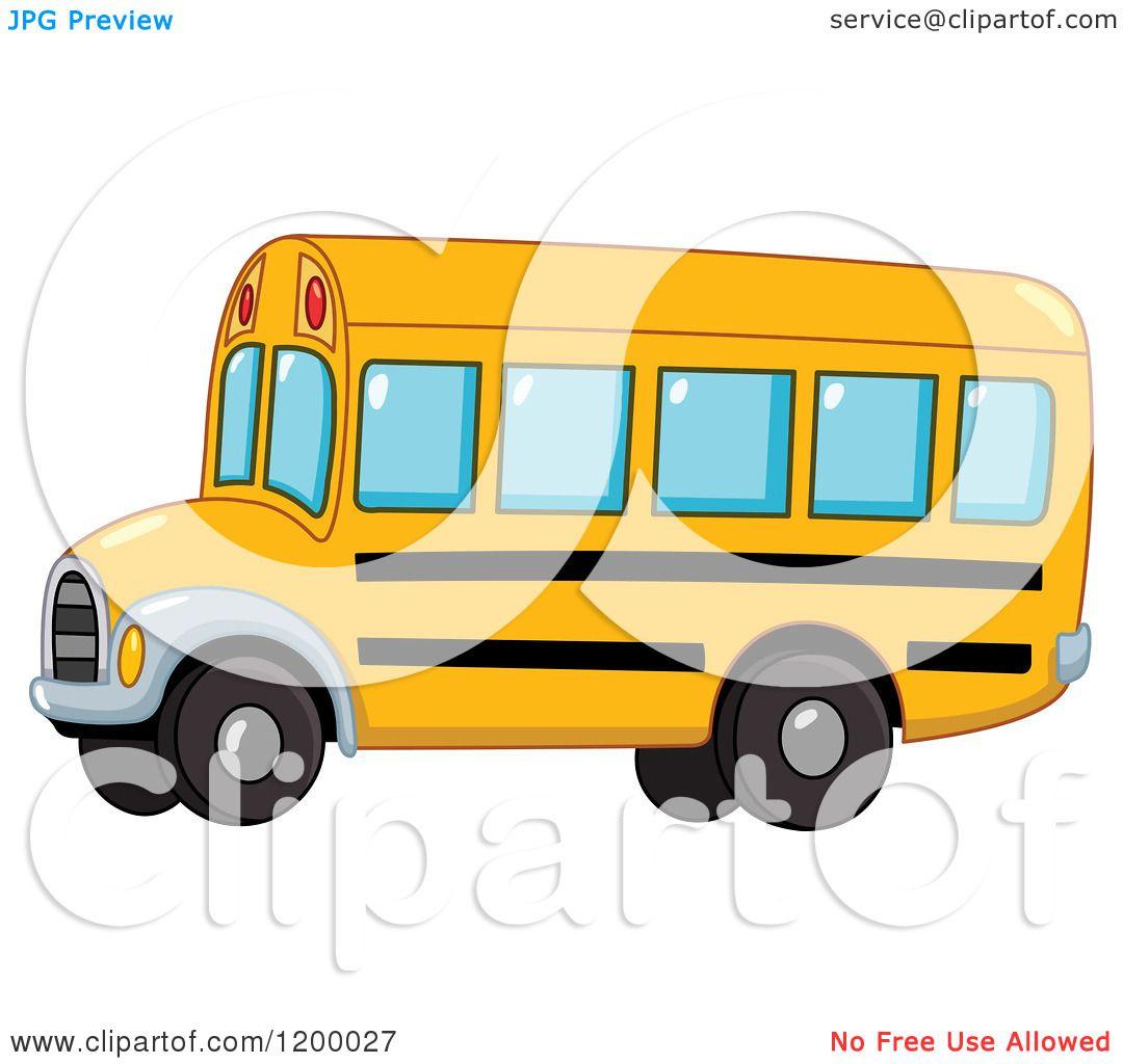 1080x1024 Cartoon Of A Cute Yellow School Bus
