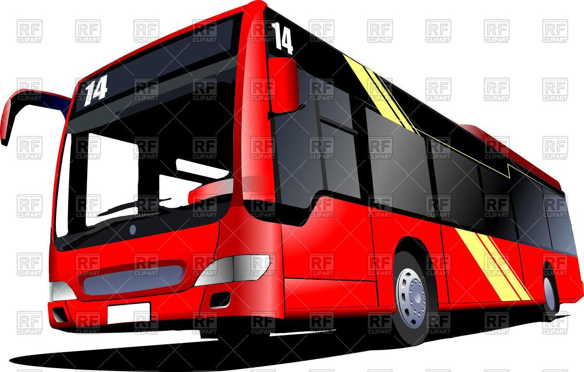 1200x765 Clip Art Red Bus Clip Art