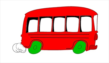 350x204 Clipart Bus Free