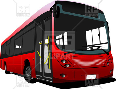 400x308 Red City Bus