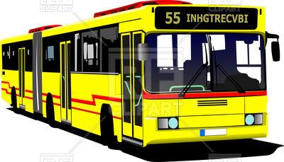 400x229 Yellow City Bus Royalty Free Vector Clip Art Image