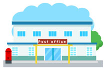210x153 City Clipart Post Office Building