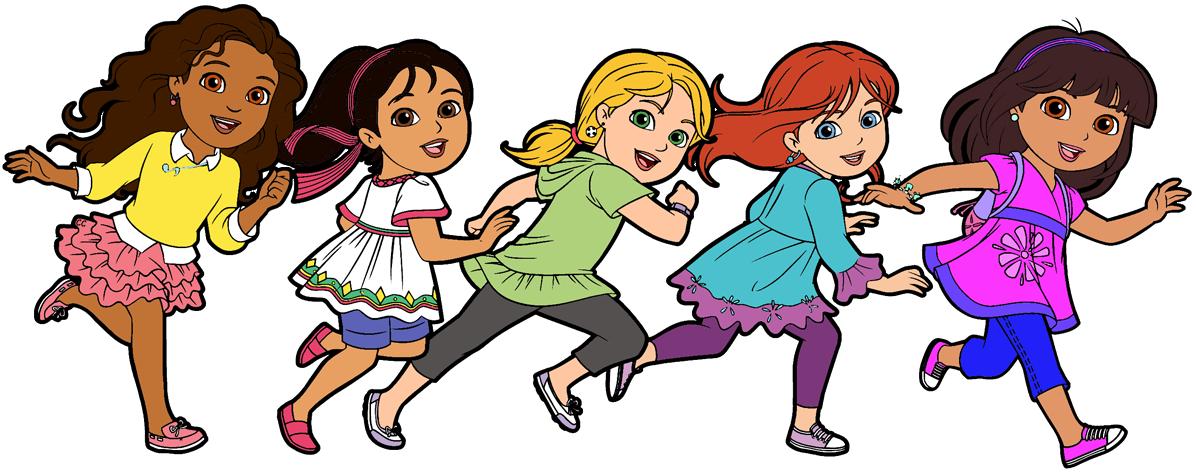 1196x473 Dora And Friends Clipart Cartoon Clip Art