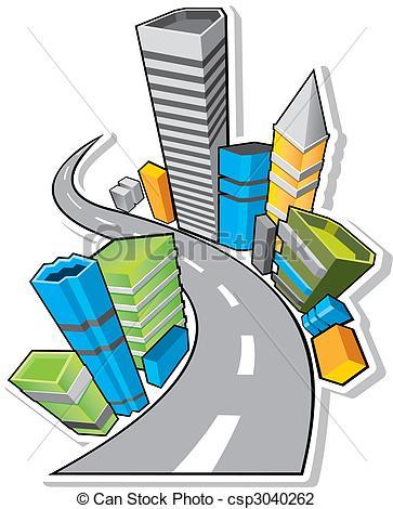 363x470 3d City Pattern Background Vector Illustration