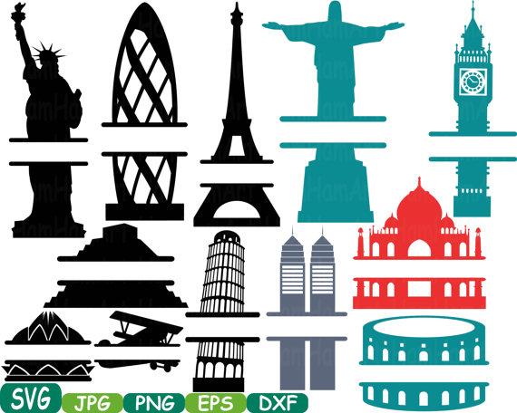 570x456 World Buildings Landmarks Split Svg Silhouette Travel City Cutting