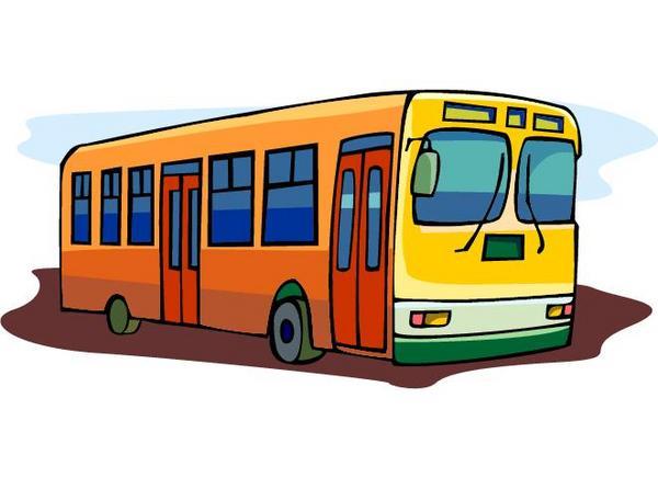 600x436 City Bus Clip Art