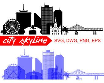 340x270 New Orleans Svg, New Orleans City Vector Skyline, New Orleans