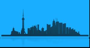 298x159 Shangai City Skyline Clip Art