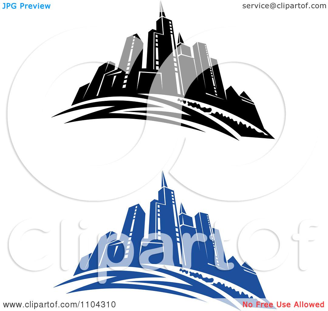 1080x1024 The Blue City Clipart