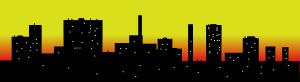 300x82 Skyline Cityscape Sky Scrapers Clip Art Free Vector 4vector