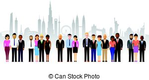 300x161 Business People Cityscape Background Vectors Illustration