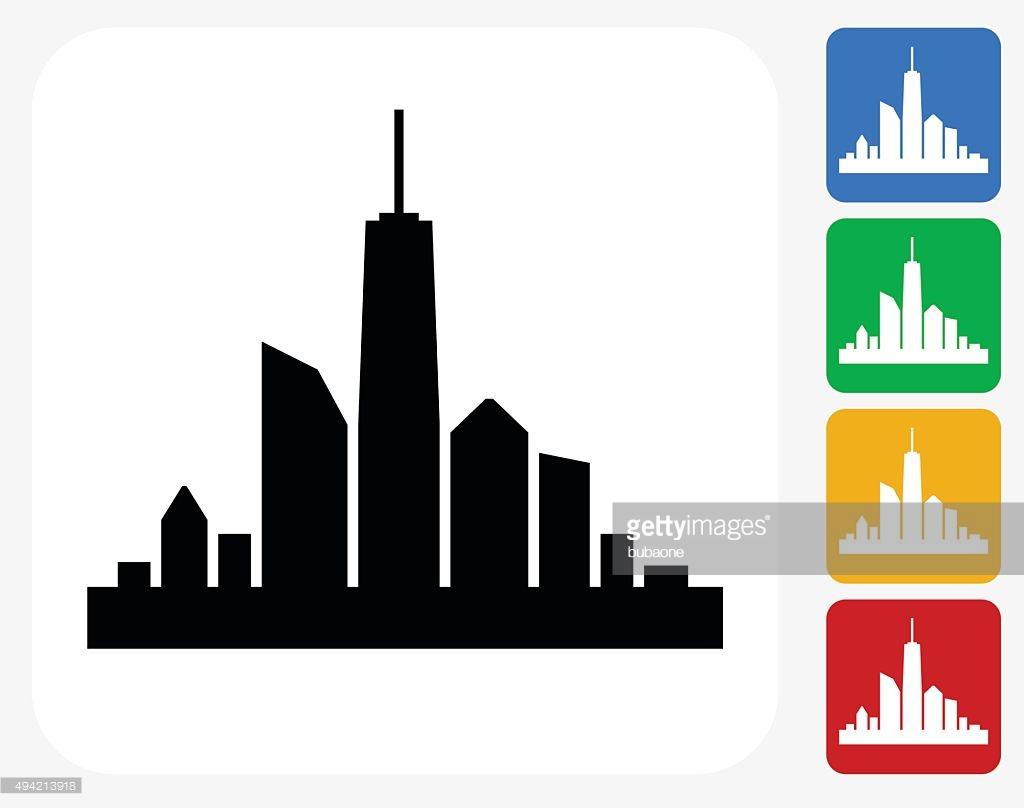 1024x808 City Skyline Graphic Desktop Backgrounds