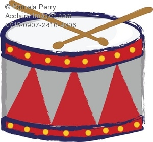 300x279 Clip Art Illustration Of A Child's Drum