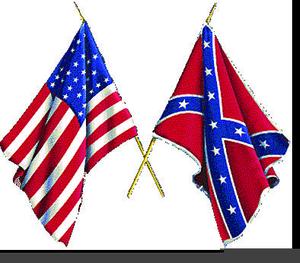 300x263 Civil War Flags Clipart Free Images