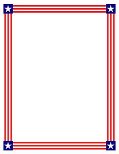 236x305 Paper Borders Usa Flag Stationary, Flags And Clip Art
