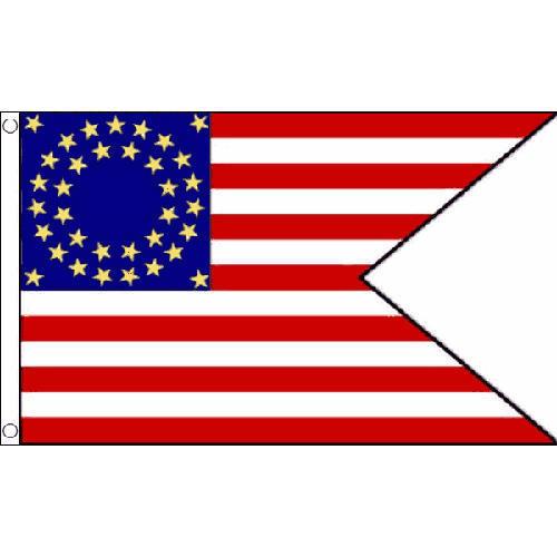 500x500 Us Cavalry (Guidon) Flag 5ft X 3ft American Civil War Banner