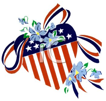 350x333 American Flag Heart Shape With Stars And Stripes And Ribbons
