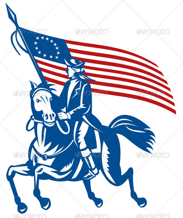590x700 American Flag Clipart Patriot Soldier