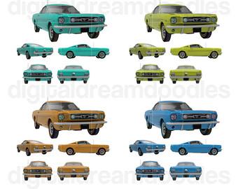 340x270 Car Clipart Classic Car Graphic Thunderbird Vintage Car