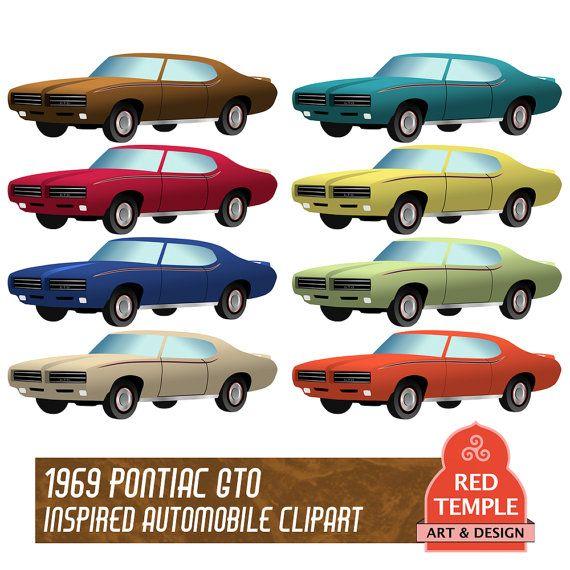 570x570 Car Clip Art Of A 1966 Pontiac Gto Car Clip Art