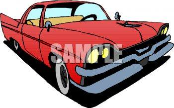350x217 Classic Car Fifties Style Car With Big Fins