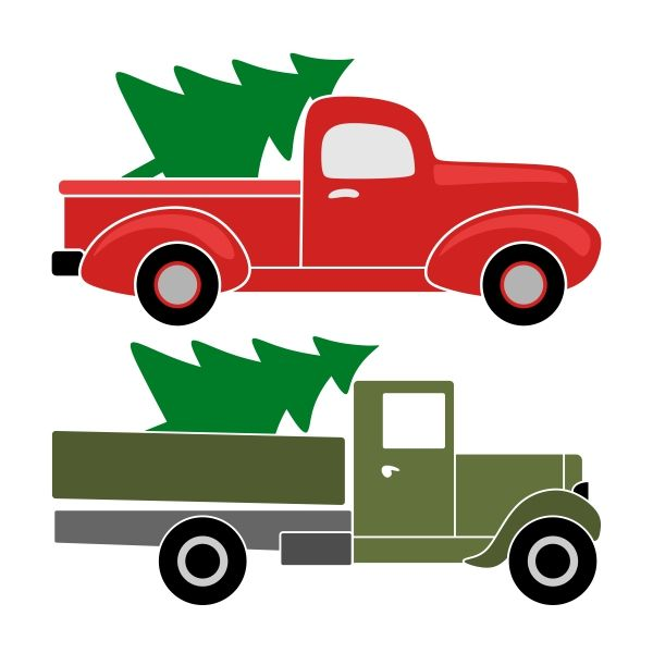 600x600 Christmas Truck Svg Cuttable Designs Christmas