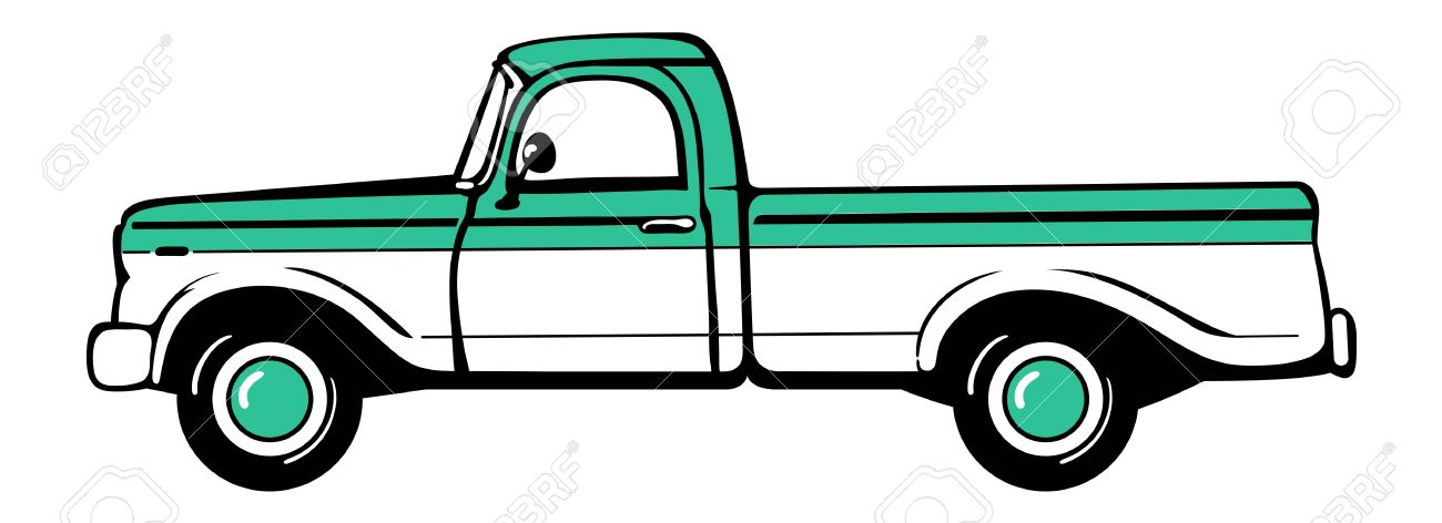 1300x472 Collection Of Classic Truck Clipart High Quality, Free