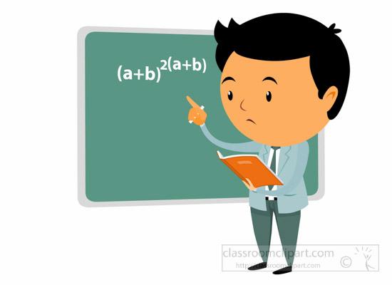 550x400 Math Clip Art Teachers Math Teacher Solving Math Problem In