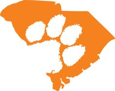 236x187 Official Clemson Paw Decal (Multiple Colors) Clemson Tiger Paw