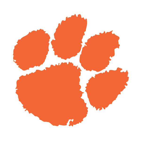 600x600 Official Clemson Paw Decal (Multiple Colors) Clemson Tiger Paw