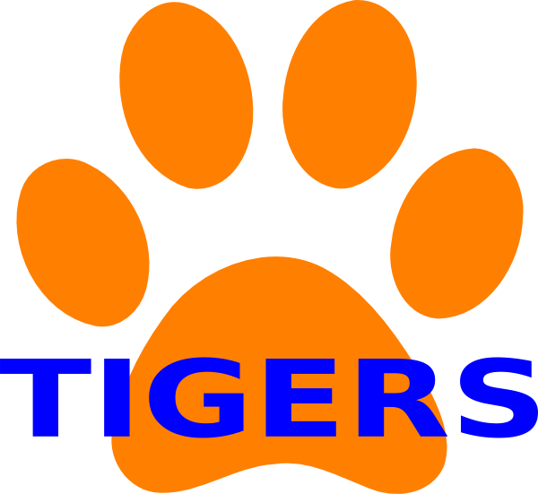 600x551 Tiger Paw Clipart Orange Paw Print Tigers 2 Clip Art