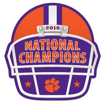 350x350 Clemson Tigers 2016 National Champions Helmet Decal
