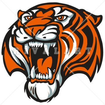 361x361 Tiger Paw Clip Art Tigers Mascot In Color Our Products Mascot