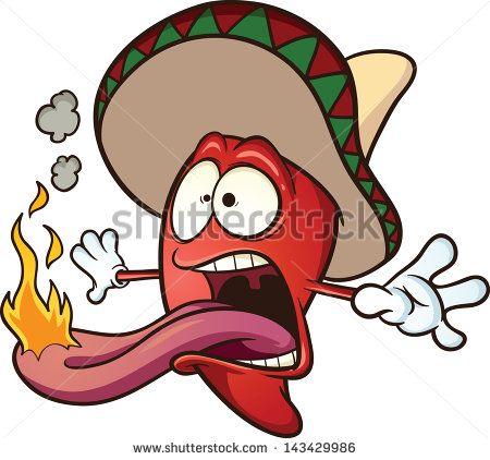 450x422 Spicy Chili Pepper. Vector Clip Art Illustration Cartoon