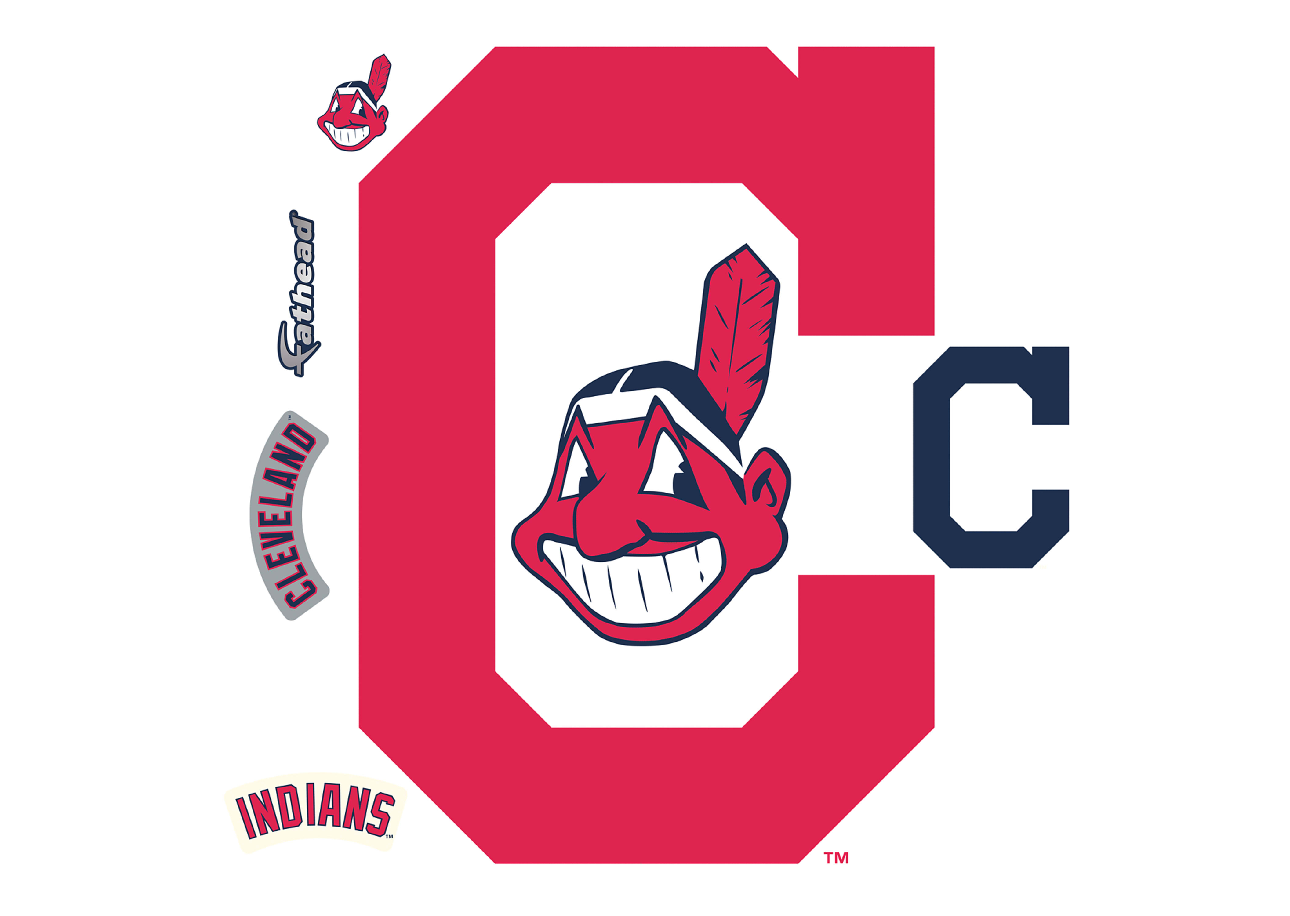 4225x3000 Cleveland Indians Logo Wall Decal Shop For Cleveland