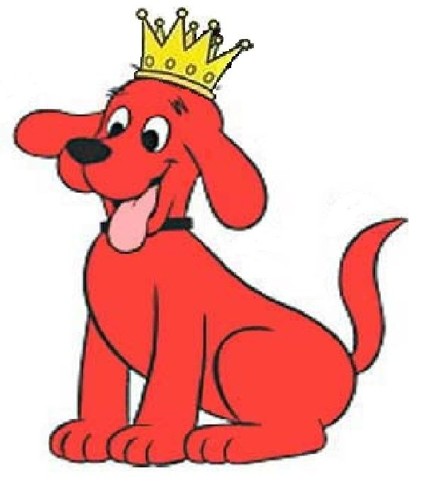 605x674 Clifford Story Time Clipart