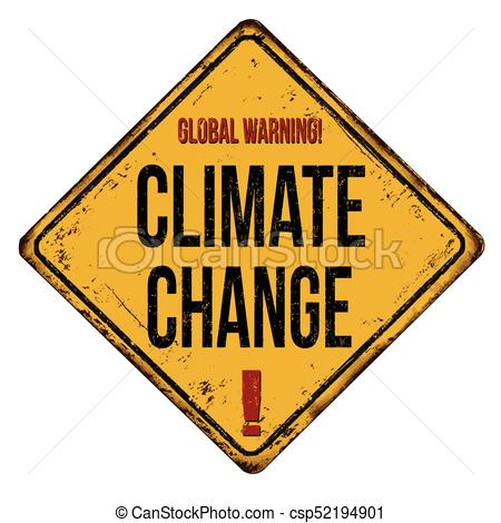 450x470 Global Warning Climate Change Vintage Rusty Metal Sign On
