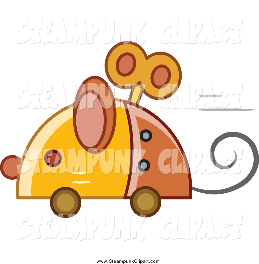 1024x1044 Vector Clip Art Of A Steampunk Robotic Mouse Speeding By By Bnp